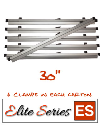 Elite Series ES-HC30 - Heavy Duty 30 Blueprint Hanging Clamps (6 Clamps with Free Clamp Wrench)