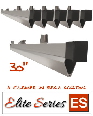 "Elite Series ES-HC30 - Heavy Duty 30"" Blueprint Hanging Clamps (6 Clamps with Free Clamp Wrench)"