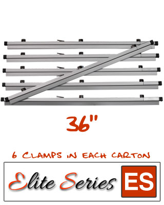 Elite Series ES-HC36 - Heavy Duty 36 Blueprint Hanging Clamps (6 Clamps with Free Clamp Wrench)