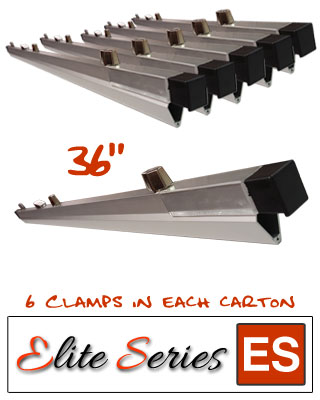 "Elite Series ES-HC36 - Heavy Duty 36"" Blueprint Hanging Clamps (6 Clamps with Free Clamp Wrench)"