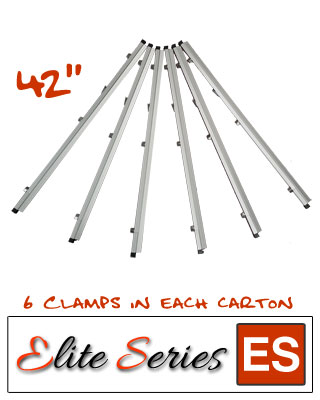 Elite Series ES-HC42 - Heavy Duty 42 Blueprint Hanging Clamps (6 Clamps with Free Clamp Wrench)
