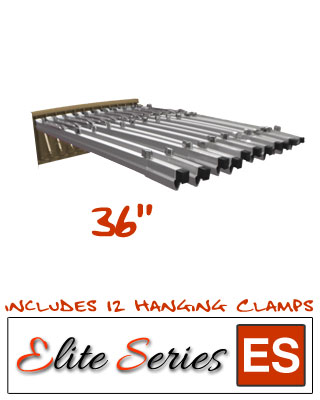 "Elite Series ES-BPWR-36B - Blueprint Pivot Wall Rack Bundle with a Dozen 36"" Clamps"