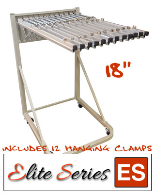 Elite Series ES-RBS-18B - Rolling Blueprint Stand Bundle with a Dozen 18 Clamps