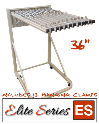 "Elite Series ES-RBS-36B - Rolling Blueprint Stand Bundle with a Dozen 36"" Clamps"