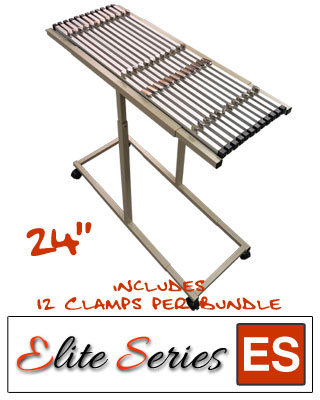 "Elite Series ES-MPC-24B - Mobile Plan Center Blueprint Rack Bundle with a Dozen 24"" Clamps"