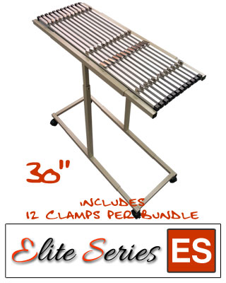 "Elite Series ES-MPC-30B - Mobile Plan Center Blueprint Rack Bundle with a Dozen 30"" Clamps"