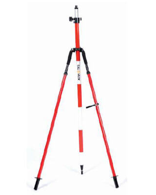 GeoMax 833642 - Red Prism Pole Bipod Thumb Release with Carrying Case and Leg Clip