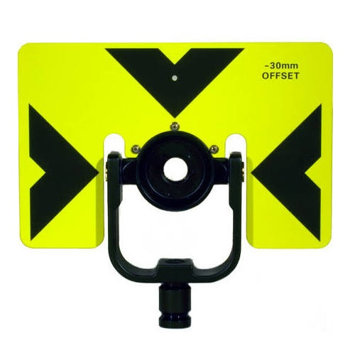 GeoMax 833621 - 6x9 Tilting Prism Mount with Fluorescent Yellow Target