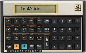 Hewlett Packard HP-12C Financial Calculator ES1034
