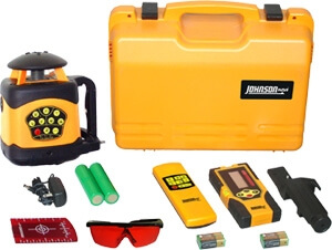 Johnson Level Electronic Self Leveling Horizontal & Vertical Rotary Laser Level 40-6522