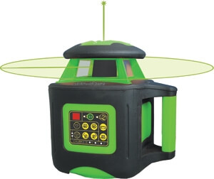 Johnson Level Automatic-Leveling Interior Rotary Laser Level KIT with GreenBrite Technology 40-6545