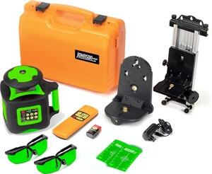 Johnson Level Electronic Self Leveling Rotary Laser Level with GreenBrite Technology 40-6545