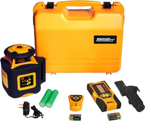 Johnson Level Electronic Self Leveling Horizontal Rotary Laser Level 40-6535