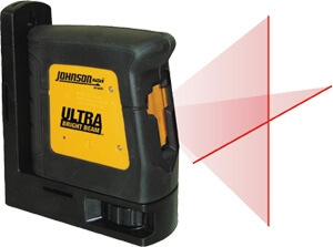 Johnson Level Self-Leveling High-Powered Cross-Line Laser Level 40-6625