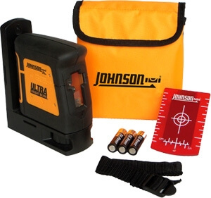 Johnson Level Self-Leveling Ultra Bright Cross-Line Laser Level 40-6625