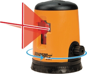 Johnson Level Self-Leveling Cross-Line Laser Level 40-0912
