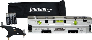 Johnson Level Three Beam Magnetic Torpedo Laser Level with Base 40-6184