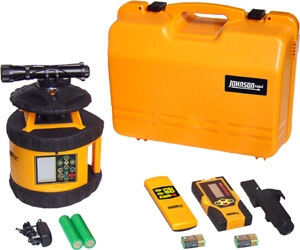 Johnson Level Electronic Self-Leveling Dual Grade Horizontal Rotary Laser Level 40-6580