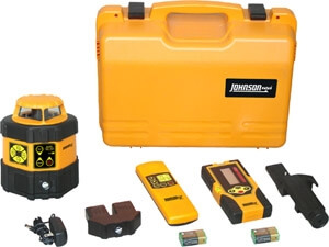 Johnson Level Electronic Self-Leveling Horizontal Rotary Laser Level 40-6537