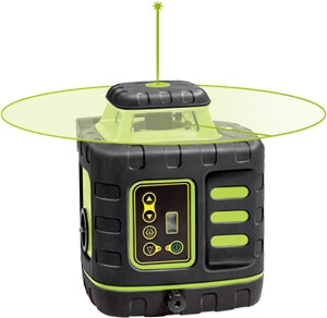 Johnson Level Self-Leveling Rotary Laser Level with GreenBrite Technology 40-6543