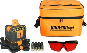 Johnson Level Manual-Leveling Rotary Laser Level 40-6502