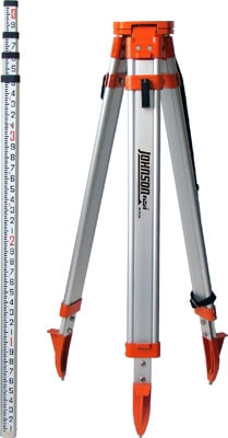 Johnson Level Universal Tripod / Grade Rod Kit 40-6350 ES4143