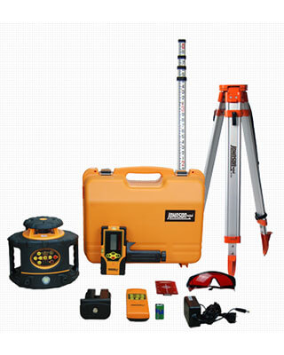 Johnson Level Electronic Self Leveling Horizontal & Vertical Rotary Laser Level Kit 40-6523