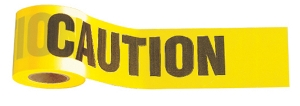 "Johnson Level Standard Yellow ""Caution/Cuidado"" Tape - 3"" x 1000' 3324"
