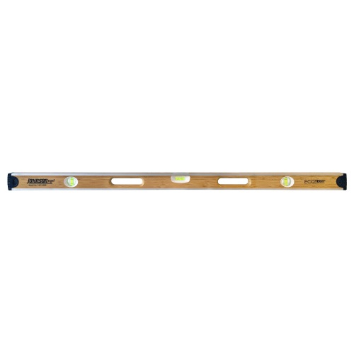 "Johnson Level 48"" Eco-Tech Bamboo Level with Block Vials 1601-4800"