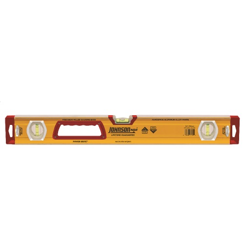 "Johnson Level 24"" Glo-View Heavy Duty Aluminum Box Level 1717-2400"