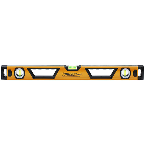 Johnson Level 24 Professional Aluminum Box Beam Level 1741-2400