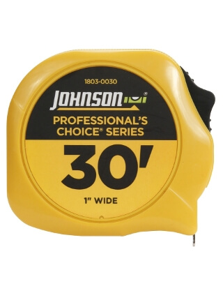 "Johnson Level 30' X 1"" Professional's Choice Power Tape 1803-0030"
