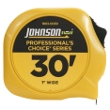 "Johnson Level 30' X 1"" Professional's Choice Power Tape 1803-0030 ES4861"