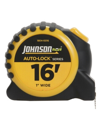 "Johnson Level 16' X 1"" Auto-Lock Power Tape 1804-0016"