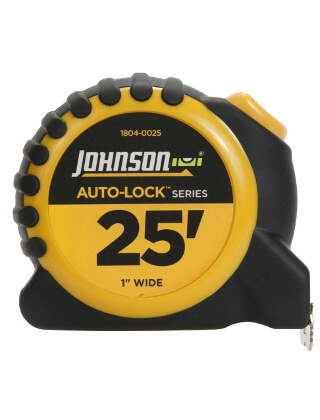 "Johnson Level 25' X 1"" Auto-Lock Power Tape 1804-0025"
