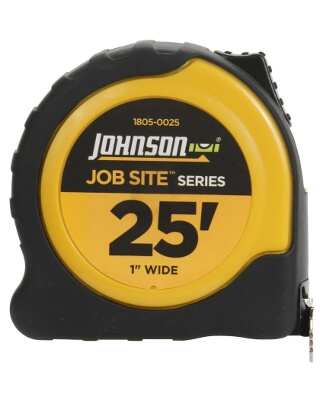 "Johnson Level 25' X 1"" JobSite Power Tape 1805-0025"