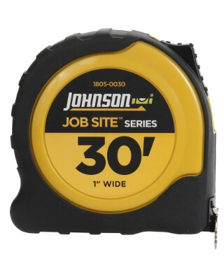 "Johnson Level 30' X 1"" JobSite Power Tape 1805-0030"
