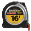 "Johnson Level 16' X 1-1/16"" JobSite Magnetic Power Tape 1806-0016 ES4867"