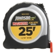 "Johnson Level 25' X 1-1/16"" JobSite Magnetic Power Tape 1806-0025 ES4868"