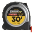 "Johnson Level 30' X 1-1/16"" JobSite Magnetic Power Tape 1806-0030 ES4869"