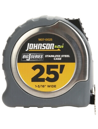 "Johnson Level 25' X 1-3/16"" Big J Power Tape 1807-0025"