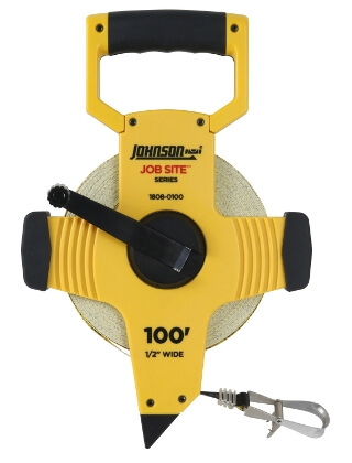 Johnson Level 100' JobSite Open Reel Fiberglass Tape 1808-0100