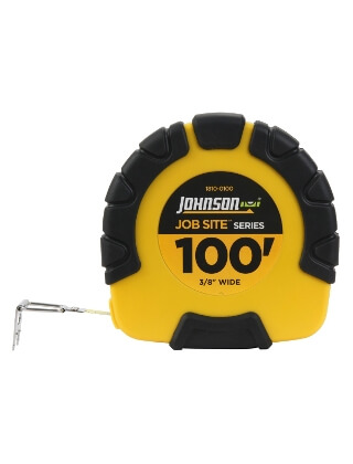 Johnson Level 100' JobSite Geared Closed Case Steel Tape 1810-0100