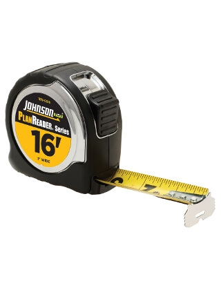 "Johnson Level 16' X 1"" PlanReader Power Tape 1819-0016"