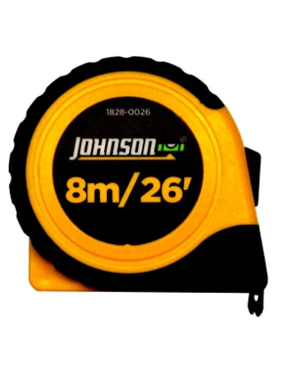 "Johnson Level 8m/26' x 1"" Metric/Inch Power Tape 1828-0026"