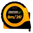 "Johnson Level 8m/26' x 1"" Metric/Inch Power Tape 1828-0026 ES4886"