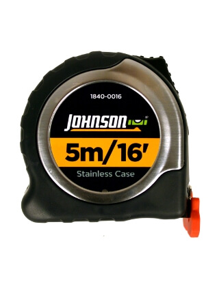 Johnson Level 5m/16' Metric/Inch Big J Magnetic Power Tape 1840-0016