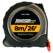 Johnson Level 8m/26' Metric/Inch Big J Magnetic Power Tape 1840-0026 ES4891