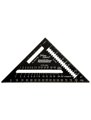 "Johnson Level 7"" Johnny Square Professional Easy-Read Aluminum Rafter Square 1904-0700"