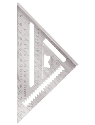 "Johnson Level 7"" Johnny Square Professional Aluminum Rafter Square 1941-0700"